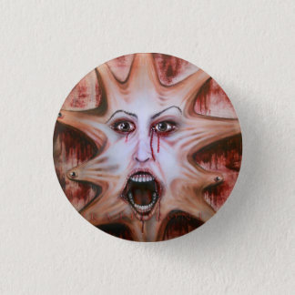 Face on Canvas 1 Inch Round Button
