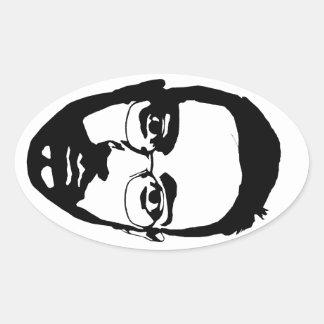 Face (oval sticker) oval sticker