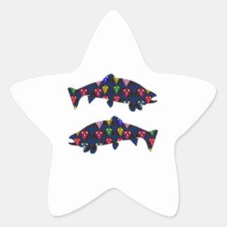 Face PAINTED fIsh TROUT kids NavinJOSHI NVN98 FUN Star Sticker