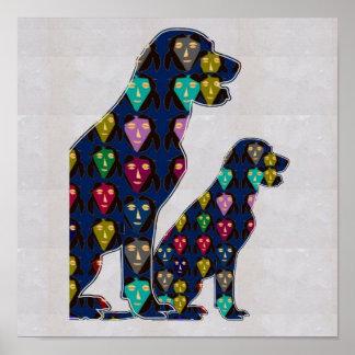 FACE painted LABRADOR dog pet  NavinJOSHI NVN109 Poster