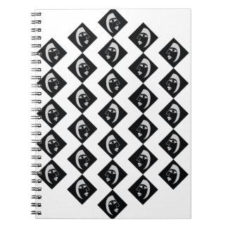 Face pattern spiral notebook