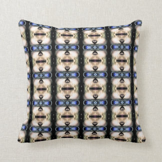 Face Pattern Throw Pillow