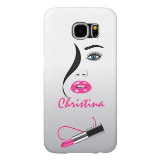 Face Pink Lipstick Kiss Mirror Samsung S6 Case