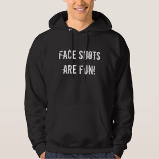 """Face Shots Are Fun"" Black Sledders.com Hoodie"