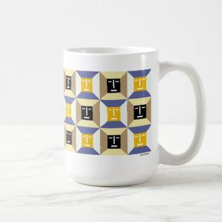 Face Squares 6 Basic White Mug