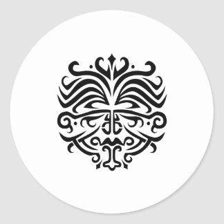 Face Tattoo Classic Round Sticker