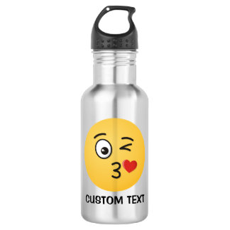 Face Throwing a Kiss 532 Ml Water Bottle