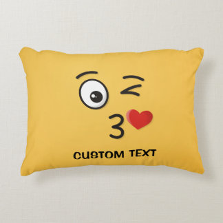 Face Throwing a Kiss Accent Pillow