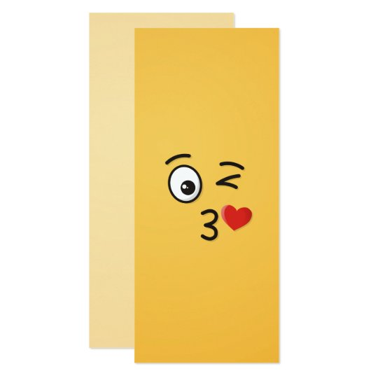 Face Throwing a Kiss Card
