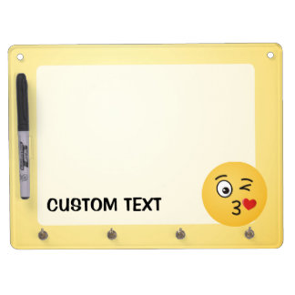 Face Throwing a Kiss Dry Erase Board With Keychain Holder