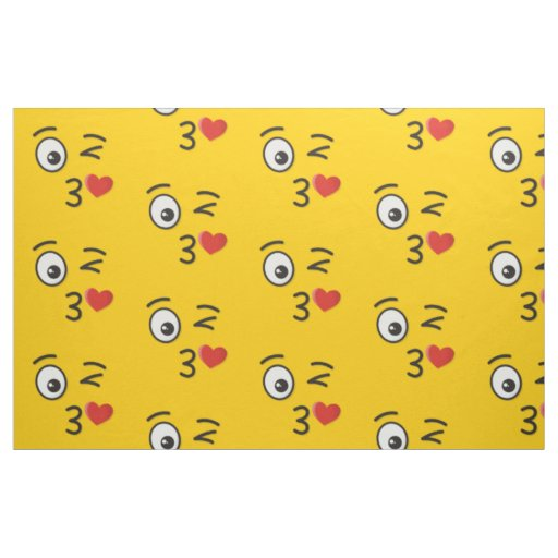 Face Throwing a Kiss Fabric