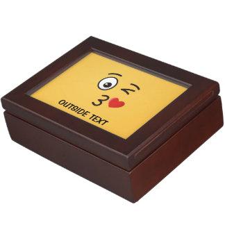 Face Throwing a Kiss Keepsake Box