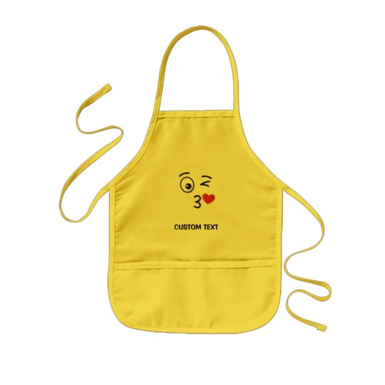 Face Throwing a Kiss Kids Apron