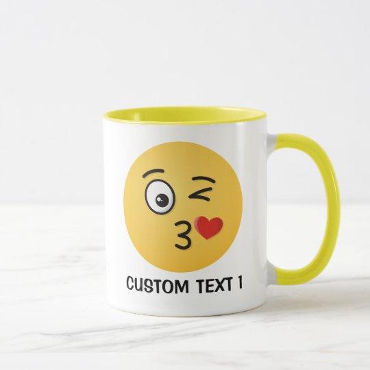 Face Throwing a Kiss Mug