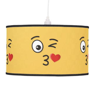 Face Throwing a Kiss Pendant Lamp