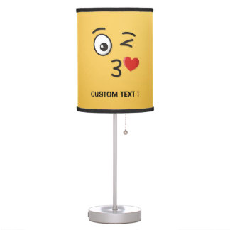 Face Throwing a Kiss Table Lamp