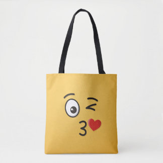 Face Throwing a Kiss Tote Bag