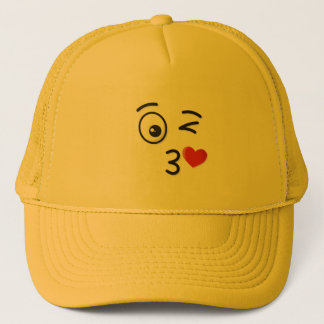 Face Throwing a Kiss Trucker Hat