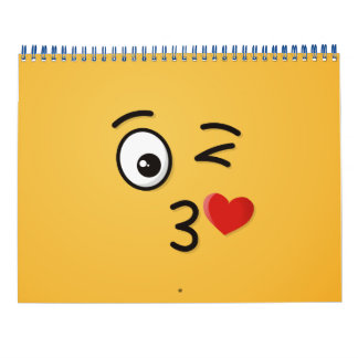 Face Throwing a Kiss Wall Calendars