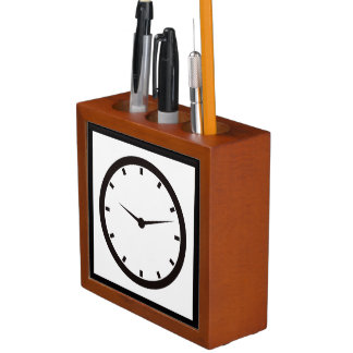 Face Time Clocked Desk Organizer