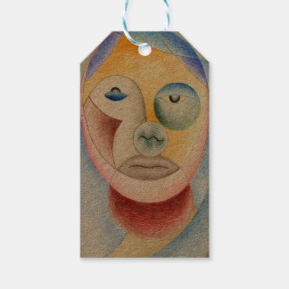 Face with circles pack of gift tags