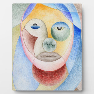 Face with circles plaque