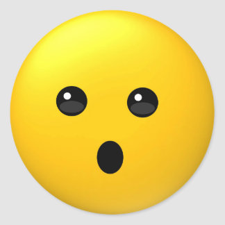 Face with open mouth emoji sticker