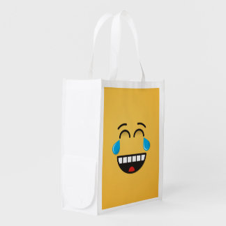 Face With Tears of Joy Reusable Grocery Bag