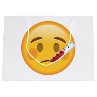 Face With Thermometer - Emoji Large Gift Bag