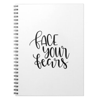 Face your fears notebook