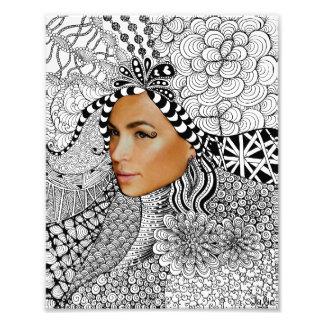 Face Zentangle Photo Print