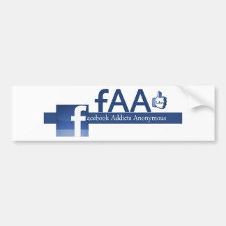Facebook Addicts Anonymous Bumper Sticker