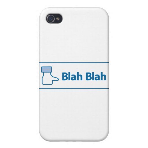 Facebook Blah Blah Covers For iPhone 4