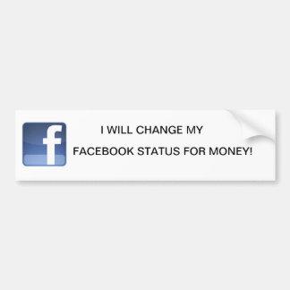 facebook bumper sticker