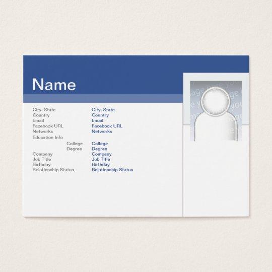 Facebook - Chubby Business Card
