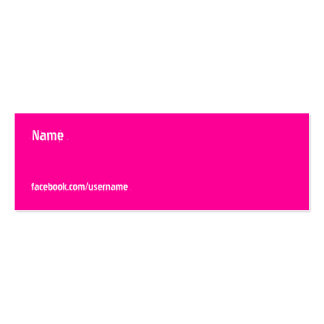 FACEBOOK COLORS BUSINESS CARDS