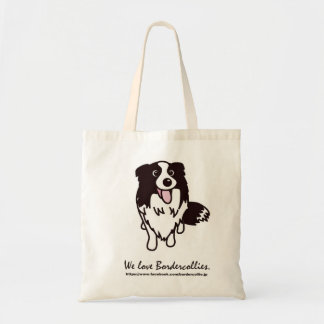 "Facebook community ""border collie favorite"" walkin tote bag"