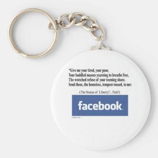 Facebook Concept Keychain