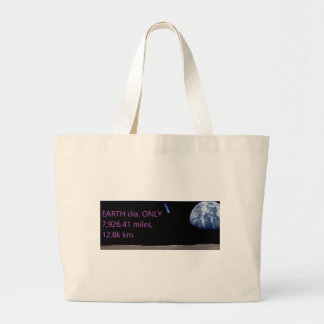 Facebook EARTH dia. ONLY 7,926.41 miles, 12.8k km Large Tote Bag