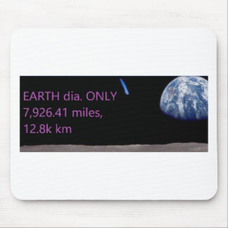 Facebook EARTH dia. ONLY 7,926.41 miles, 12.8k km Mouse Pad