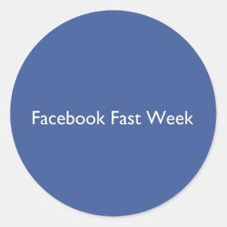 Facebook Fast Week Round Sticker