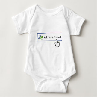 facebook friend baby bodysuit