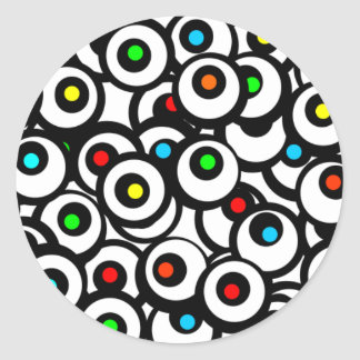 Facebook Graffiti Round Stickers
