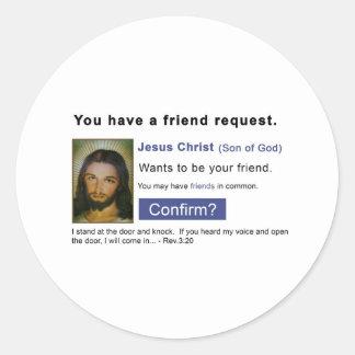 Facebook jesus stickers