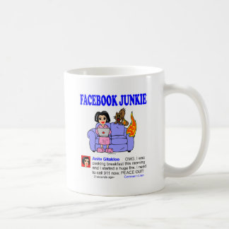 FACEBOOK JUNKIE COFFEE MUG