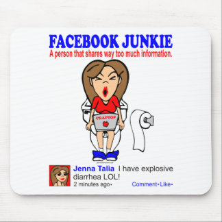 FACEBOOK JUNKIE MOUSE PAD