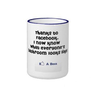 Facebook. Like a Boss Ringer Coffee Mug
