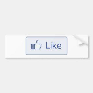 Facebook Like Bumper Sticker