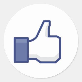 Facebook Like Button Classic Round Sticker