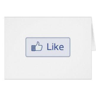 Facebook Like Card